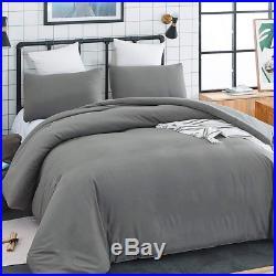 CLOTHKNOW Grey Comforter Sets Twin Boys Men Bedding Comforter Set Twin Solid 2