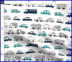 Car Nursery Kid Room Cars Boys Transportation Sateen Duvet Cover by Roostery
