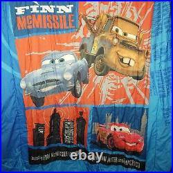 Cars 2 Finn McMissile Tow Mater Lightning McQueen Twin Comforter Reversible