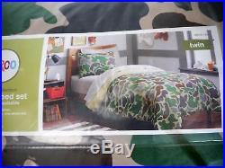Circo Dino, Basic, Sport Zone, Truck Camouflage Twin Comforter & Sheet Set 5Pieces