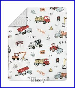 Construction Truck Boy Red and Blue Toddler Comforter Bedding Set by Sweet Jojo