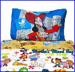 DISNEY JAKE & NEVERLAND PIRATES Boys Bedding Blue TWIN Size Comforter+Sheets+PAL