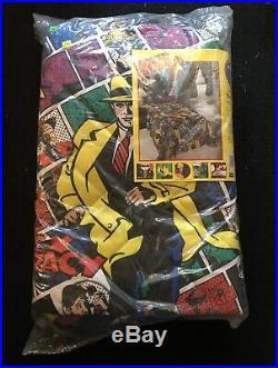 Dick Tracy NIP Disney 4 Pc Lot Bed Set Madonna Blanket Drapery Spread Sheet Set