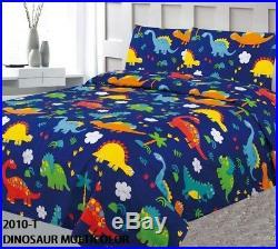 Dinosaurs Kids Boys Comforter Set Sheet Set And Curtains 8pcs Twin Size