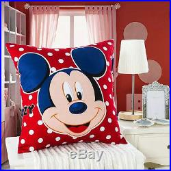 Disney Licensed Mickey Mouse 7pcs Twin Full Queen Size Comforter In A Bag Mk770