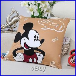 Disney Licensed Mickey Mouse 7pcs Twin Full Size Comforter In A Bag Mk701
