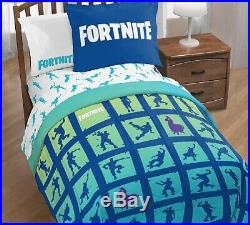 Fortnite Boogie Boys 5 Piece Bedding Set Twin or Full Comforter Sheets 2DayShip