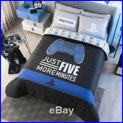 Gamer Console Teens Boys Original Reversible Comforter Set 2 Pcs Twin Size