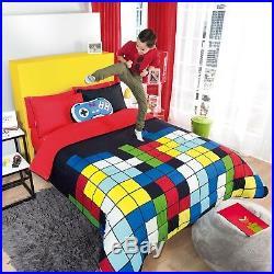 Gamer Console Teens Boys Reversible Comforter Set 3 Pcs Twin Size