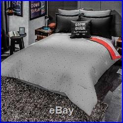 Gamer Controller Juniors Boys Reversible Comforter And Sheet Set 6pcs Twin Size