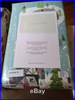 Garnet hill twin duvet Winter snow globe holiday tree bed room cover blanket new