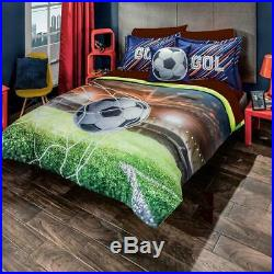 Gol Soccer Sports Comforter Bedding Reversible TWIN Decoration TeenS Boy Futbol