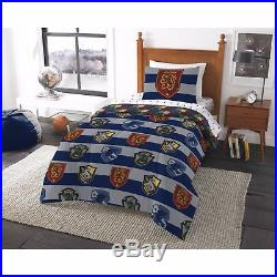 Harry Potter Boys Reversible Twin Comforter & Sheet Set (4 Piece Bed In A Bag)