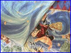 Harry Potter Quidditch Twin Duvet Flat Sheet Hermione 2001 VTG