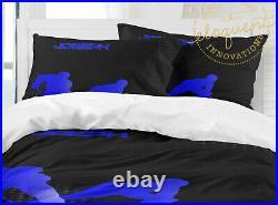 Hockey Coformter, Ice Hockey Bedding Set with Pillowsham for Boys, Personalized