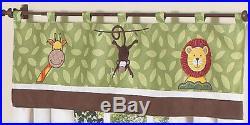 Jojo Cheap Monkey Giraffe Jungle Safari Animal Twin Size Kid Bedding Set for Boy