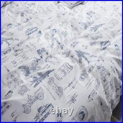 Jumeey Boys Cars Comforter Set Twin Aircraft Military Vehicle Bedding Set Airpla