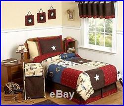 Kids Bedding Set Western Cowboy Twin Boy Room Decor Gift 4 Pc Comforter NEW