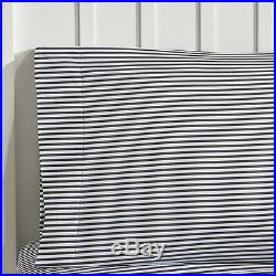 Kids Boy Girl Blue Grey Star Comforter White Black Stripes Sheets Full Twin Set