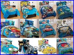 Kids Boys 4 Piece Twin Comforter Set/bed In A Bag -multiple Disney/tv Characters