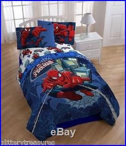 Kids Boys Spiderman Bedding Bed In A Bag / Comforter Set