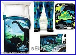 Kids Girls Boys Jurassic World Dinosaurs Bed In A Bag / Comforter Set- 4 Prints
