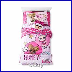 Kids Girls Lol Surprise Dolls Bed In A Bag / Comforter Set 2 Prints