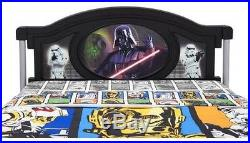Kids Twin Bed Star Wars Headboard Bedding Boys Bedroom Furniture Children Decor
