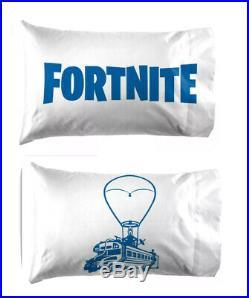 LICENSED Boy's FORTNITE Battle Royal Bus Camo TWIN Bed Bag Logo Pillow 6 PC Set