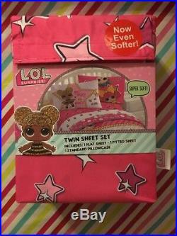 LOL SURPRISE Bedding Set Twin Comforter Sheet Set Throw Blanket Rare Mermaid New
