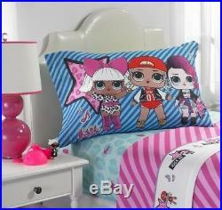 LOL Surprise Full 6pc Bedding Comforter Sham Sheet Set Rocker Diva Doll 1 2 3