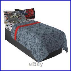 Lego Ninjago Warriors Boys Twin Single Comforter & Sheets (4 Pc Bedding)
