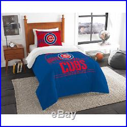 MLB Chicago Cubs Twin Bedding Comforter Sham Set Kids Bedroom Guest Room NEW