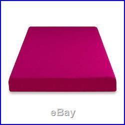 Memory Foam Mattress Twin Topper 5 Pink Child Moisture Barrier Extra Firm Solid
