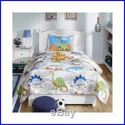 Mi Zone Kids Little Foot Twin Bedding Sets Boys Quilt Set Grey, Blue, Orange