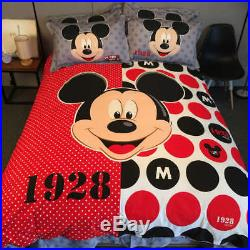 Mickey Mouse Bedding Set for Boys and Girls King Queen Full Twin Singles size