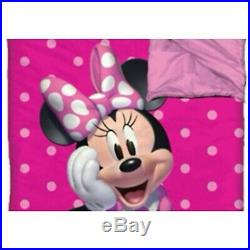 Minnie Mouse Kids Slumber Sleeping Bag Pillow Children Outdoor Camping Bags Camp