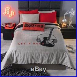 Music Teens Boys Reversible Comforter Set 4 Pcs Full Size