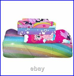 My Little Pony Bed In Bag Comforter Set Sheet Pillowcase Twin Bedding Reversible