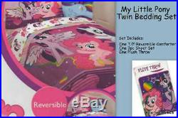 My Little Pony Twin / Full Comforter + 3pc Sheet Set + Plush Throw NEW