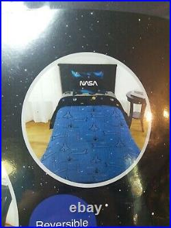 NASA 2-Piece Reversible Comforter Set Twin/Full Space Shuttle Planets NEW