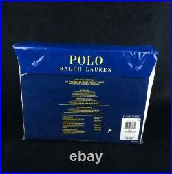 NEW Polo Ralph Lauren Polo Teddy Bear Print Twin Bed Sheet Set White Cotton Boys