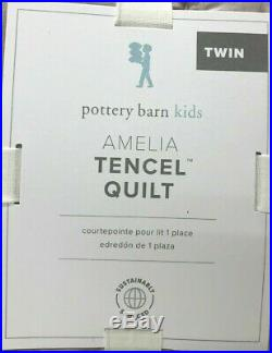 NEW Pottery Barn KIDS Amelia Tencel TWIN QuiltDusty Lavender