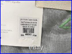 NEW Pottery Barn KIDS Camden Star Embroidered TWIN Quilt withSTANDARD Sham, GRAY