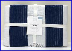 NEW Pottery Barn KIDS Rugby Stripe TWIN QuiltNAVY BLUE