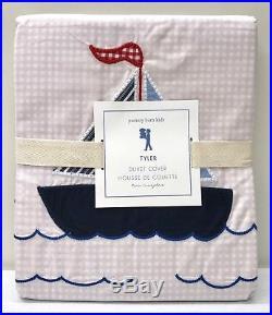 NEW Pottery Barn KIDS Tyler Hampton Boat TWIN Duvet Cover, Sailboat Nautical
