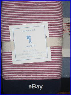 NEW Pottery Barn Kids EMMETT Train Twin Quilt + STANDARD SHAM + Twin Sheet Set