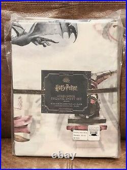 NEW Pottery Barn Kids Harry Potter Storybook Organic Twin 3pc Sheet Set