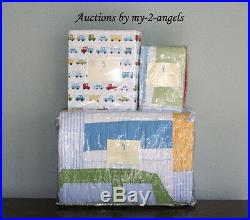 NEW Pottery Barn Kids OSCAR Cars & Trucks Twin Quilt Set Brody Things That Go