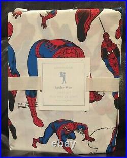 NEW Pottery Barn Kids Spiderman Spider-Man Twin 3pc Sheet Set, Superhero